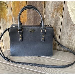 KATE SPADE AUTHENTIC black crossbody tote